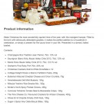 A picture of the seasonal sophistication hamper from John Lewis aong with the list of products included